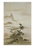 View of Trees Along the Riverbank from Eight Views of the Xiao and Xiang Rivers