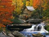 Moulin à grains de Glade Creek, Virginie, États-Unis Papier Photo par Robert Glusic