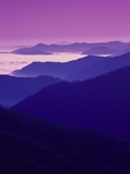 Twilight over Great Smoky Mountains