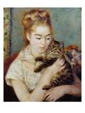 Femme au chat Giclée par Pierre-Auguste Renoir