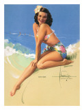 Sunny Skies  Pin-Up of Miss Hawaii 1950 Elsa Edsman  c1953