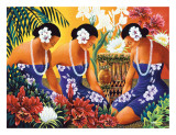 Silent Preparation  Hawaiian Hula Dancers