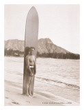 Duke Kahanamoku with Surfboard  Hawaii  c1930