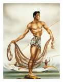 Hawaiian Net Fisherman  c1930s