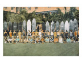 Duke Kahanamoku and Surfing Friends c1930