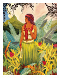 Hawaii Nei  Hula Moons Book Illustration  c1930