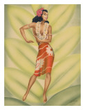 Graceful Dancer  Hawaiian Hula Dancer c1940s