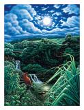 Full Moon over Seven Sacred Pools  Hana  Maui  Hawaii