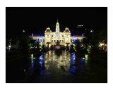 Viet Nam  Saigon/Ho Chi Minh City  People's Committee Building/City Hall at night