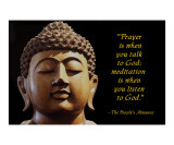 Prayer &amp; Meditation Photo Poster 211W