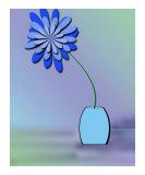 Blue Azalea In Blue Vase