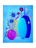 Funky Floral Blue