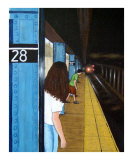 """NYC Chelsea Subway Scene"" Oil Painting"