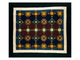 An Amish Pieced & Quilted Cotton Coverlet  Late 19th Century