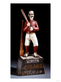 A Painted and Carved Baseball Player Tobacco Figure  circa 1875