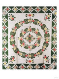 A Pieced and Appliqued Cotton Quilted Coverlet  South Carolina  Mid-19th Century