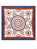 A Pieced Quilted Coverlet  American  Late Nineteenth Century