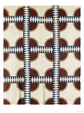 A Pieced Cotton Quilted Coverlet  circa 1860
