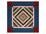 An Amish Pieced Cotton and Wool Quilted Coverlet  Lancaster County  Pennsylvania  circa 1925