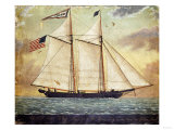The Schooner Whig  American School  Mid 19th Century