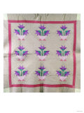 An Amish Pieced and Appliqued Cotton Quilted Coverlet  circa 1930