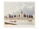 The Taj Mahal  Tomb of the Emperor Shah Jehan and His Queen  circa 1824
