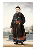 An Elegantly Dressed Chinese Hong Merchant  Chinese School  19th Centur
