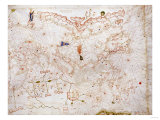 A Portolan Chart of Europe  circa 1500