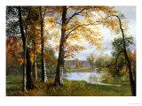 Un lac paisible Giclée par Albert Bierstadt