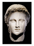 A Greek Marble Female Head  Classical Period  circa Mid 4th Century