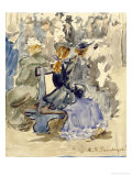 Ladies Seated on a Bench