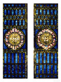 Two Leaded and Plated Glass Windows  circa 1910