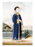 An Elegantly Dressed Chinese Hong Merchant's Wife  Chinese School  19th Century