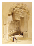 The Doorway of the Temple of Bacchus  Baalbec  7th May 1839