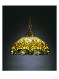 A &quot;Hanging Head&quot; Dragonfly Glass and Gilt Bronze Chandelier
