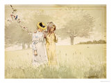 Girls Strolling in an Orchard  1879