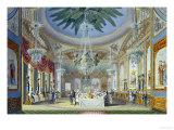 The Banqueting Room at the Royal Pavilion  Brighton  1826
