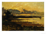 Sunset at Manchester  Massachusetts  from Sandy Hollow  1877