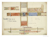 Florence  San Miniato  Studies of Decorative Ceiling Panels  1891