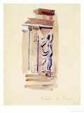 Certosa di Pavia  Study of an Angel Statue  1891