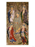 A Very Rare Buddhist Painting of Guanyin and Four Bodhisttvas  Dated Shunzhi Tenth Year (AD1654)