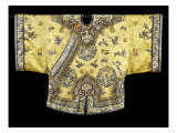 A Pale Yellow-Ground Silk-Embroidered Jacket  19th Century