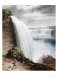 Niagara Falls  Part of the American Fall from the Foot of the Staircase  circa 1829
