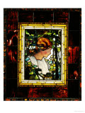 An Important Leaded Glass Portrait Window  Dated Prior 1900