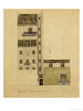 London  Elevation of Proposed Studio in Glebe Place and Upper Cheyne Walk  1920