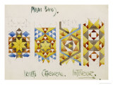 Orvieto Cathedral  a Sheet of Studies of Mosaic Bands  1891