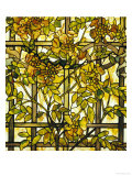 Trumpet Vine Leaded Glass Window