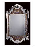 A Venetian Glass Framed Wall Mirror  Late 19th or Early 20th Century