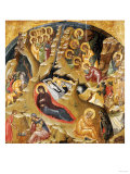 An Important Late Byzantine Icon of the Nativity of Christ  15th Century