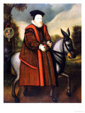 William Cecil  1st Baron Burghley (1520-1598)  Riding a Grey Mule  English School
